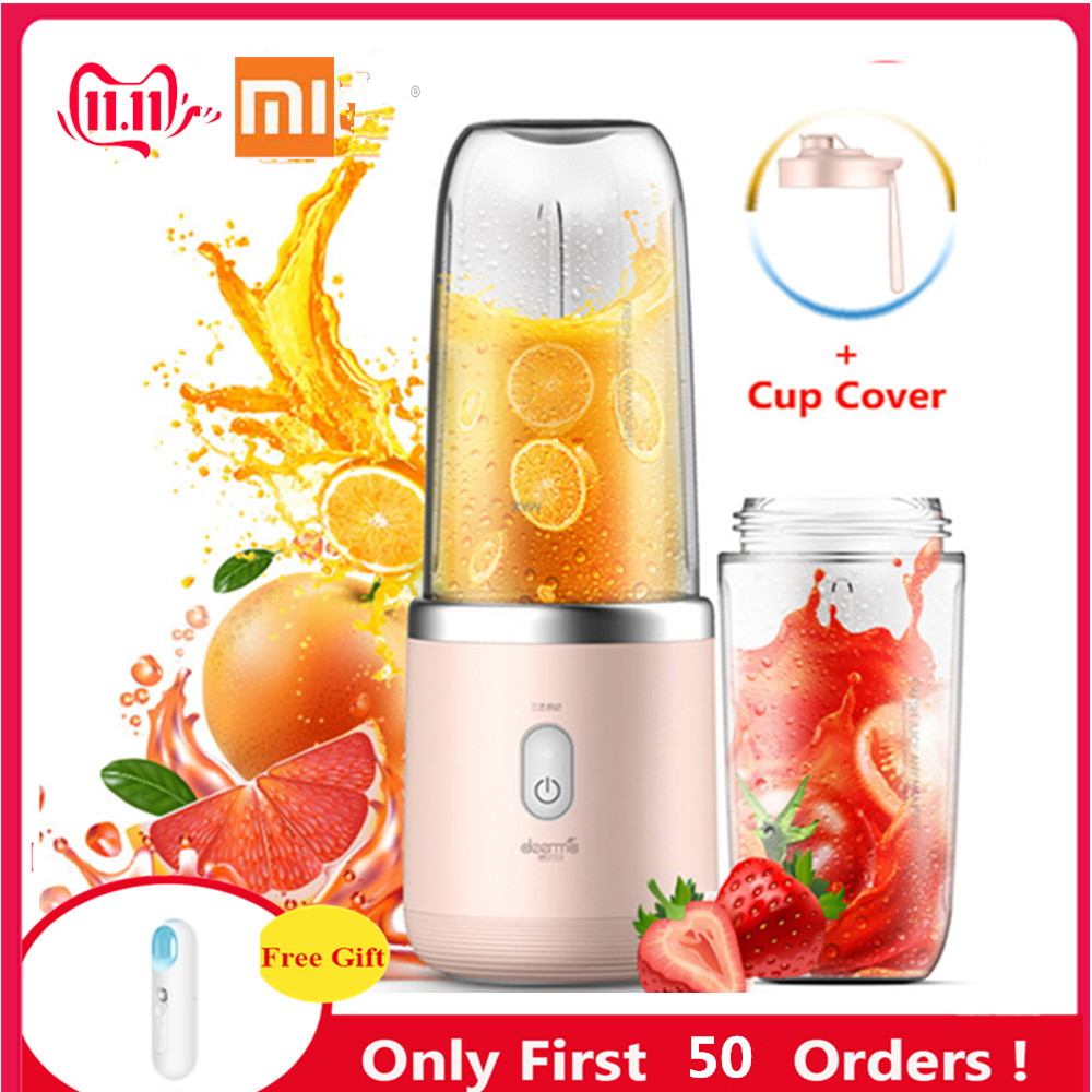 Original Xiaomi Deerma Portable Electric Juicer 400ML Automatic Wireless Multi-Functional Mini Portable USB Charging Juicer