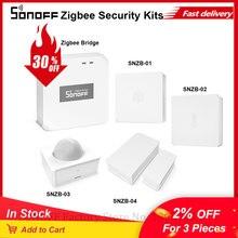 SONOFF interruptor inalámbrico Zigbee Bridge/SNZB 01, Sensor de humedad y temperatura de SNZB 02, SNZB03, Sensor de movimiento, SNZB04, Sensor de ventana de puerta