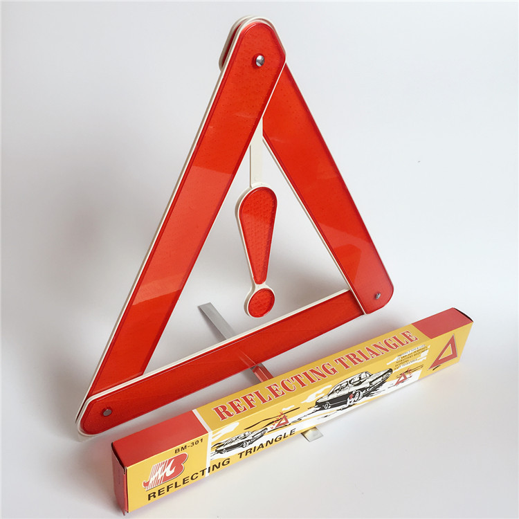 `Practical Car Stop Sign Tripod Road Flasher Triangle Emergency Warning Sign Foldable Reflective Safety Roadside Lighting|Reflective Strips| - AliExpress