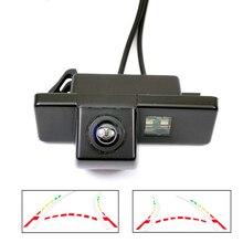 Tylna kamera samochodowa AHD CVBS do Peugeot 408 308 307cc 301 Peugeot RCZ 307 Cross 2C Hatchback dynamiczna trajektoria sprawdza kamerę
