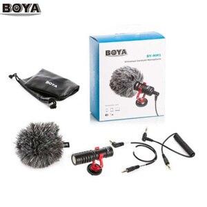 Image 2 - BOYA BY M1 M1DM BY MM1 + çift çok yönlü yaka mikrofonu kısa tabancası Video mikrofon canon nikon için iphone akıllı telefonlar kamera
