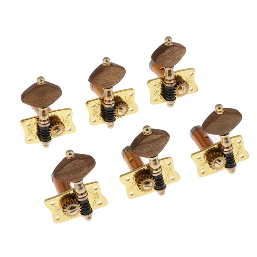 6 pièces Vintage guitare cordes Tuning chevilles accordeur têtes de Machine boutons Tuning touches pour guitare acoustique ou classique