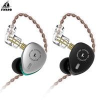 FDBRO 2019 New 2BA+1DD Hybrid Drivers In Ear Earphone HIFI DJ Monitor Earphone Earbuds With 2PIN Cable Metal Earbud Free Ship
