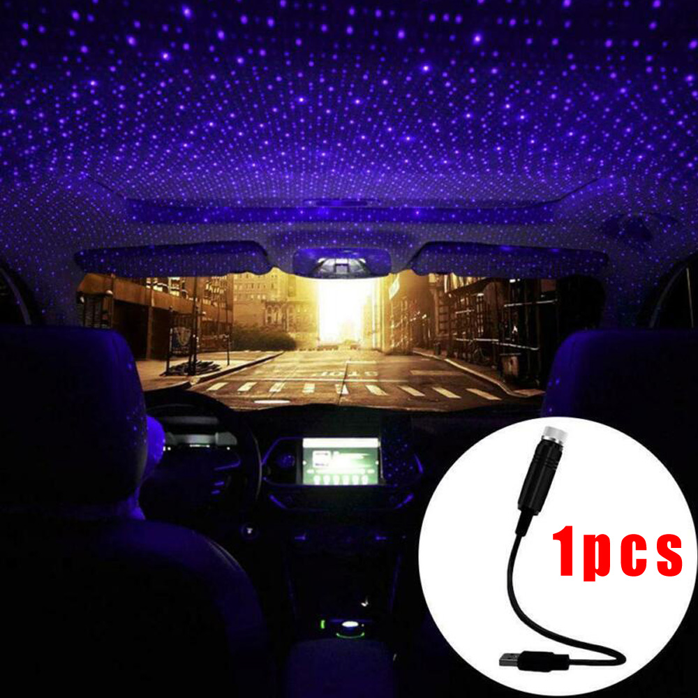 5V Car SUV Interior LED Atmosphere Lamp Ambient Star Light USB Projector Starlight Car Roof Night Light Car Styling