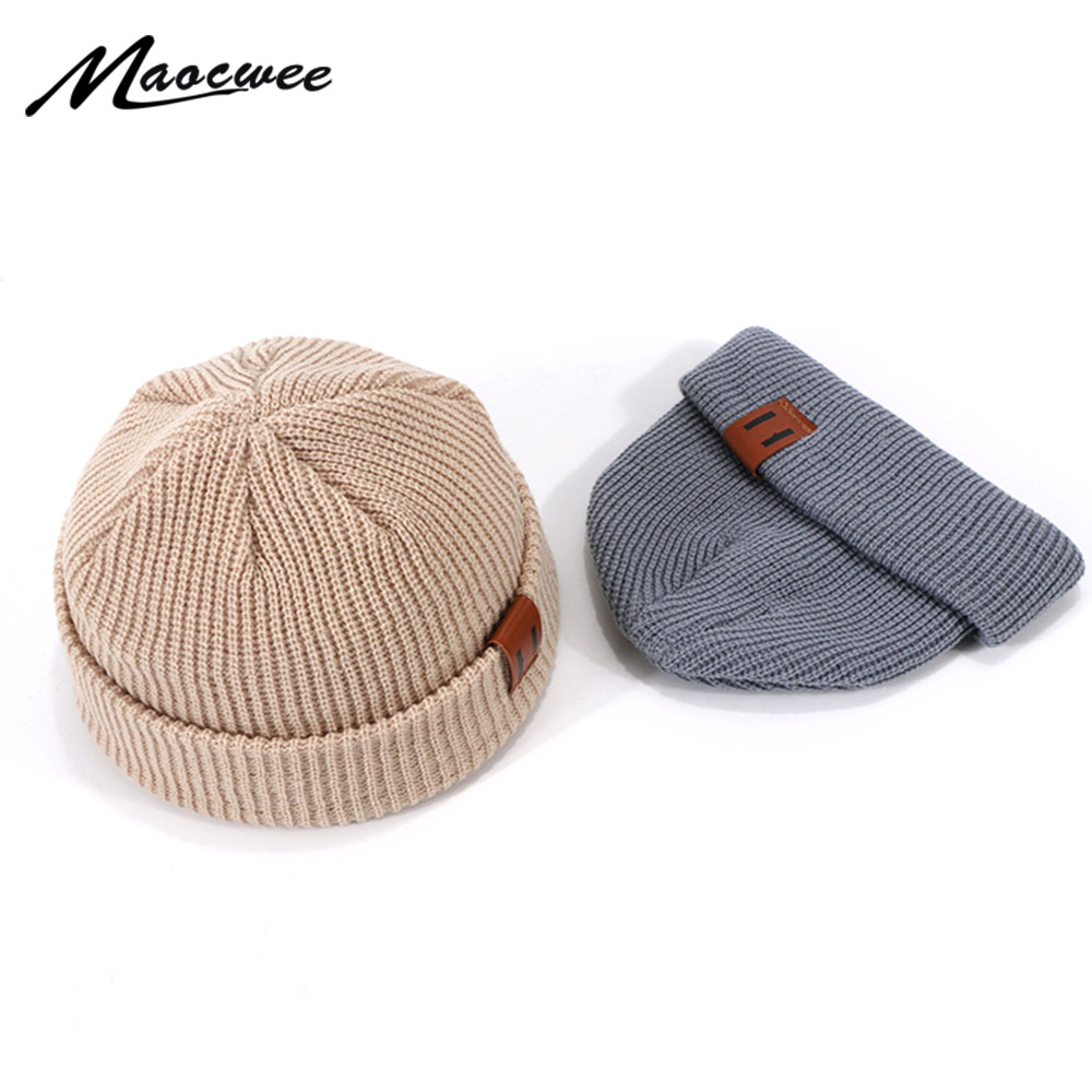 Unisex Hats Knitted Outdoor Thick Cap Winter Beaines For Woman Men Breathable Gorras Simple Hats Warm Solid Casual Lady Beanies