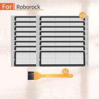 16 pçs robô aspirador de pó filtro hepa acessórios para painço 1 s 2 s roborock s50 s6 s55 s51 peças mais limpas|Peças p/ aspirador de pó| |  -
