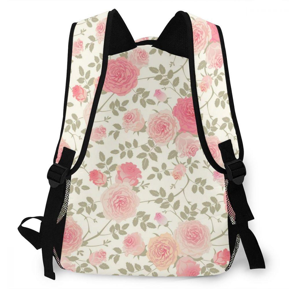 adolescentes rosa flores bagpack feminino senhoras mochila escolar