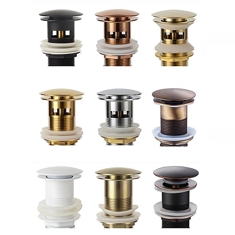 Faucet-Accessories Basin Sink Pop-Up-Drain Brass Rose-Gold/brushed Bathroom Matt