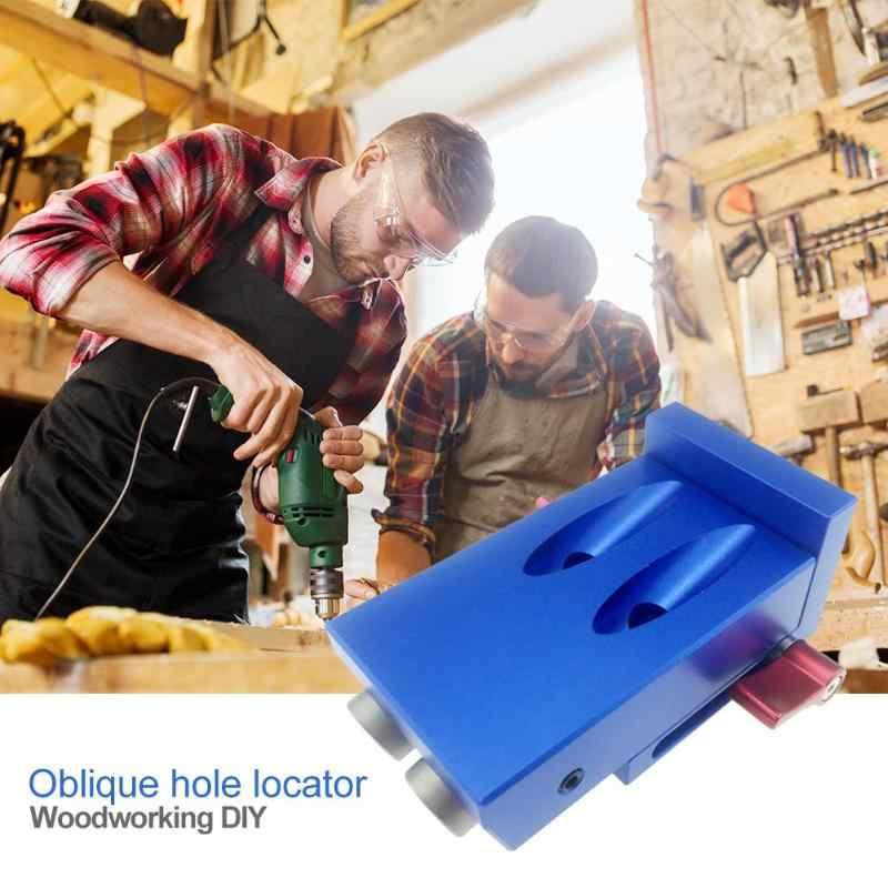 斜め穴パンチャー穴ジグキットロケータ DIY 木工ドリルガイドセットドリルビットガイドセットキャビネットハードウェアロケータ