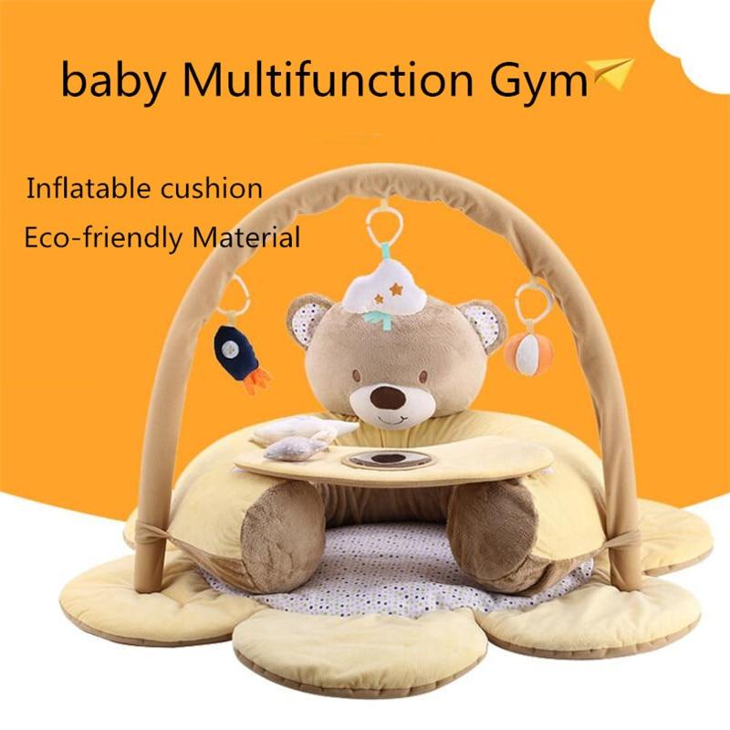 Tapis de gymnastique pour bébé tapis pour enfants tapis de jeu pour enfants tapis de jeu pour bébé tapis rampant pour bébé avec support ours tapis de développement gonflable couvertures pour bébés