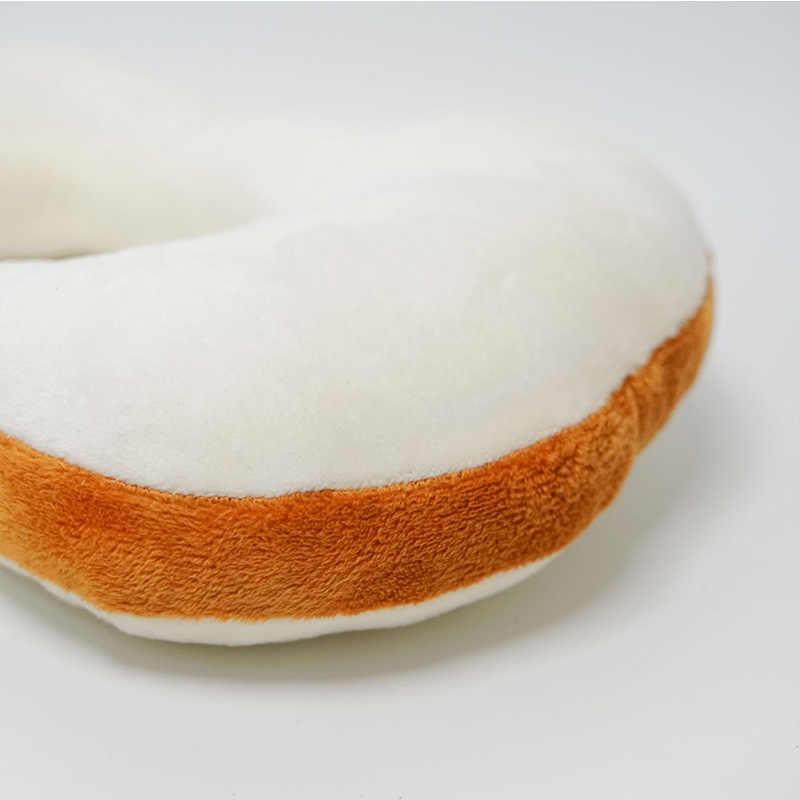 Funda de cabeza protectora suave con forma de pan y cuello de gato para mascota Show Cosplay Props TP899