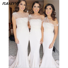 2019 Mermaid Bridesmaid Dresses Sexy for Teens White