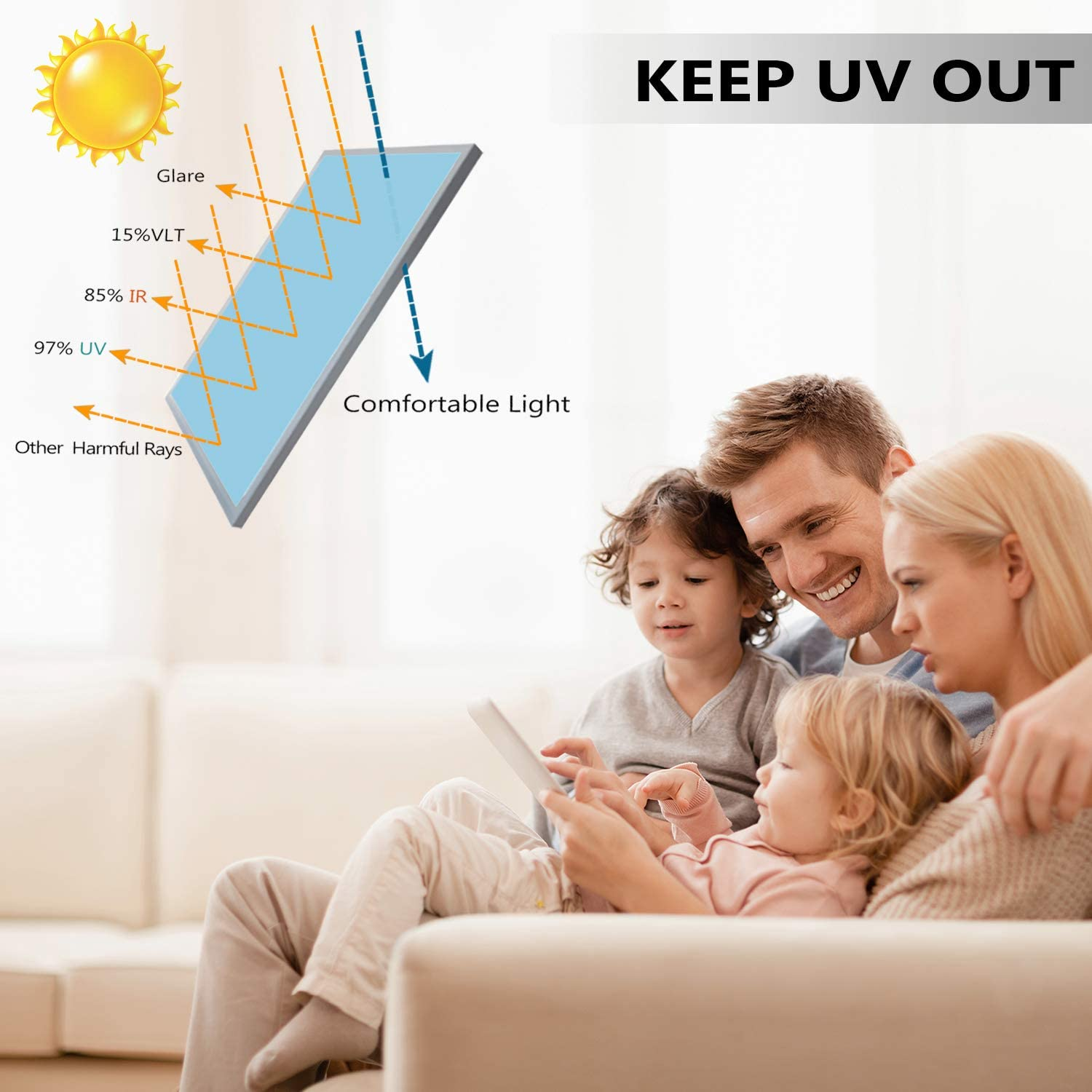 One Way Daytime Privacy Window Tint Self Adhesive Solar Film Anti UV Heat Rejection Green-Silver Mirror Window Film for Home 6
