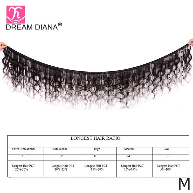 "Image 2 - DreamDiana Body Wave 1/3/4 Bundles 10"" 30"" Brazilian Hair Bundles Natural Color Remy Weaving 100% Human Hair Extensions M RatioHair Weaves   -"