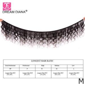 "Image 2 - DreamDiana Body Wave 1/3/4 Bundles 10"" 30"" Brazilian Hair Bundles Natural Color Remy Weaving 100% Human Hair Extensions M Ratio"
