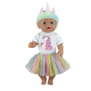 Image 2 - Mode neue anzug Für 17 Zoll Baby Reborn Puppe 43cm Kleidung