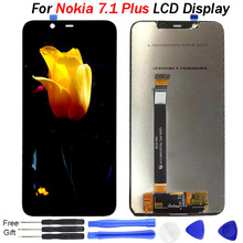 """Original For Nokia 7.1 Plus LCD Display Touch Screen Digitizer Assembly Replacement Parts 6.18""""For Nokia X7 Display TA-1131 LCD цена в Москве и Питере"""