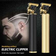Kemei-cortadora de pelo profesional s para hombre, recortadora de pelo para Barbero, cortadora de barba s, cortadora de pelo con USB, máquina de acabado de 0mm
