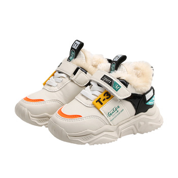Hot Sales Leisure Children Sneakers Plush Winter Casual Kids Casual Shoes High Quality Baby Girls Boys Tennis Toddlers hot sales high quality led lighted children casual shoes classic cool solid boys girls toddlers tennis fashion kids sneakers