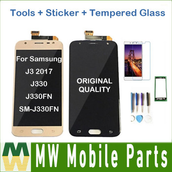 Original For Samsung Galaxy J3 2017 J330 J330FN SM-J330FN J330DS LCD Display With Touch Sensor Glass Digitizer with kit 1