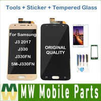 Original For Samsung Galaxy J3 2017 J330 J330FN SM-J330FN J330DS LCD Display With Touch Sensor Glass Digitizer with kit