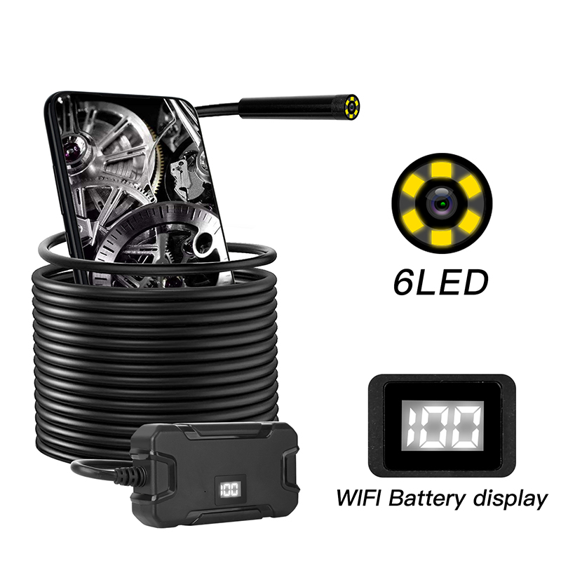 5.5/8.0mm HD1080P WiFi Wireless Endoscope Camera Screen Display Borescope Inspection Camera Waterproof IP67 Flexible Snake Cam|Surveillance Cameras| |  - title=
