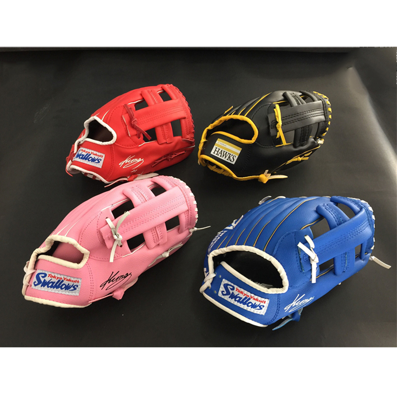 Hot! 1pcs Baseball Gloves PU Outdoor Sports Equipment Multicolor Batting Gloves Children Youth Trainning Practice Basked Beisbol