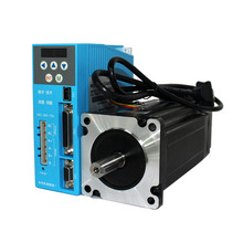 3phase Nema34 closed loop stepper motor wtih driver for AC 220V 12NM with digital display for China CNC router kit 3axis nema34 closed loop stepper motor 86hbm100 1000 1 12nm 1275oz in 80v closed loop system driver ss880 high quality