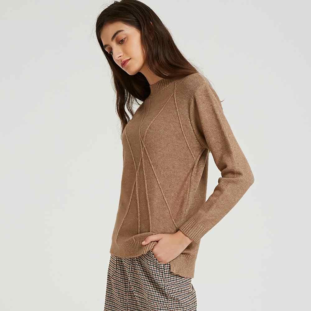 Wixra nuevo botón suéter de cuello alto mujeres Otoño Invierno sólido punto pulóver mujeres suéter suave suéter Mujer Tops de punto
