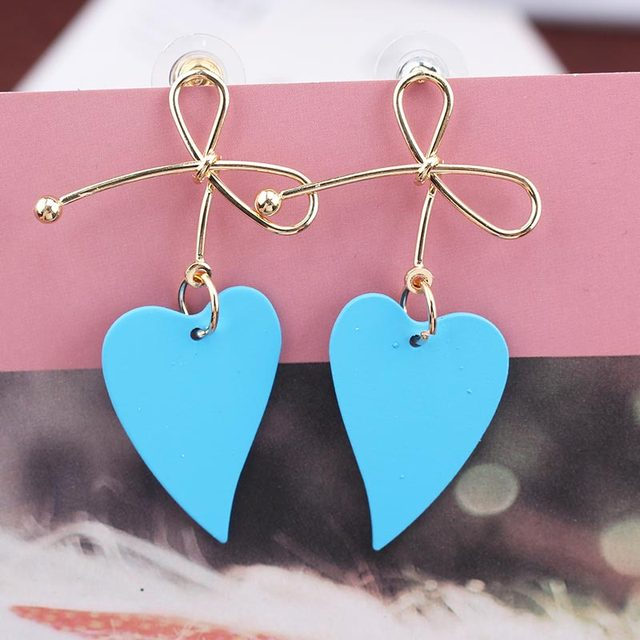 Lovely Heart Metal Earrings  2