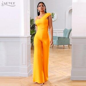 Image 4 - Adyce 2020 חדש קיץ תחבושת סטי נשים שמלת Vestido פסים חולצות & מכנסיים 2 שתי חתיכות סט הלילה החוצה סלבריטאים ערב מסיבת סטים