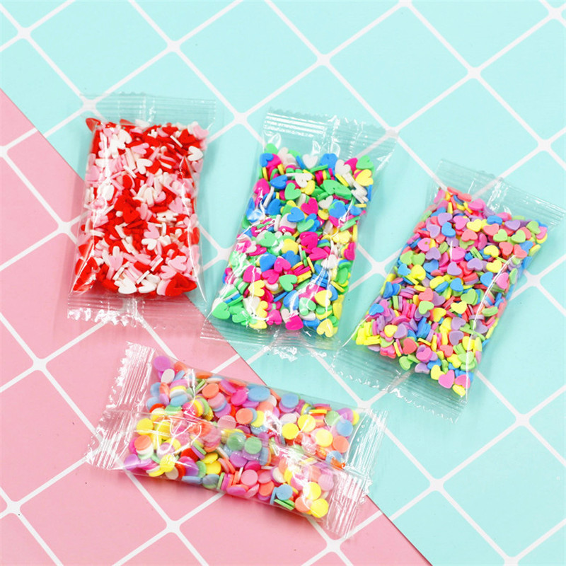 10g Fruit Fimo Bead Charms For Slime Accessories Fluffy DIY Decoration Addition Slime Clound Sand Toys Filler Glitter Clear Set