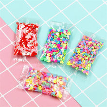 10g Fruit Fimo Bead Bedels voor Slime Accessoires Pluizige DIY Decoratie Toevoeging Slime Clound Zand Speelgoed Filler Glitter Clear set(China)