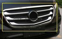 Для Mercedes-Benz Vito W447 2014 2015 2016 2017 ABS Хром Передняя решетка гриль крышка отделка авто аксессуары для автомобиля Стайлинг