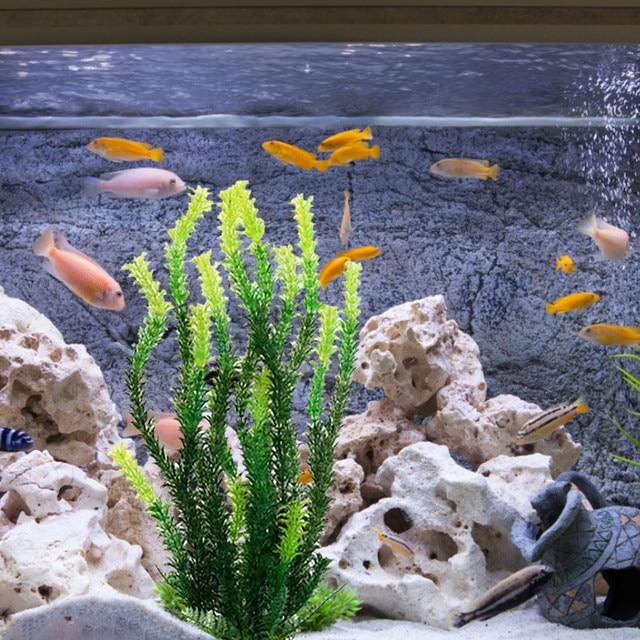 Underwater Artificial Aquatic Plant Ornaments Rockery Landscaping Turtle Fish Pet Tank Plant Water Grass Landscape Decor Adornos 1