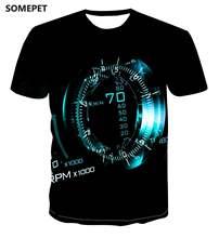 Новая персонализированная футболка с принтом часов и геометрическим
