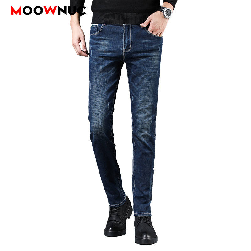 Jeans For Men Casual Streetwear Autumn Jeans Male Trousers MOOWNUC Pants Classic Mens Jeans Skinny Denim Slim Designer Straight