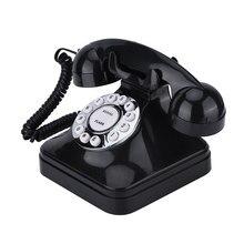 WX-3011-teléfono fijo de plástico multifunción para casa y oficina, Retro, negro, Vintage