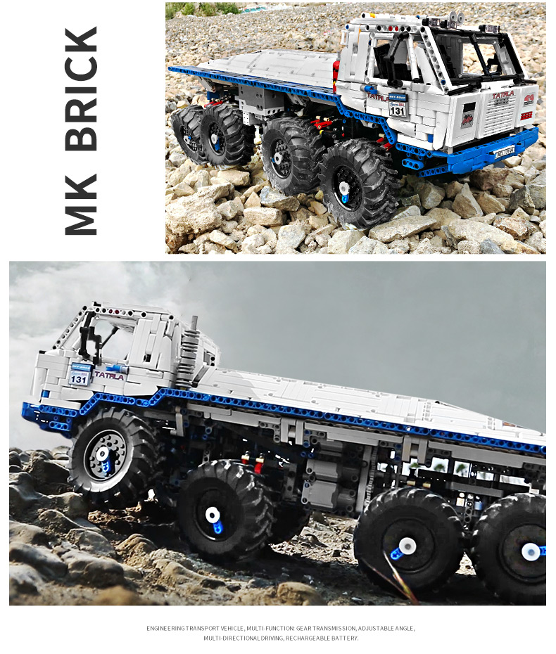 MOULD KING 13144 Compatible 27092The Arakawa Moc Tow off-road Truck Tatra 813 8x8 Building Block (3647PCS) 18