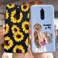 Mode Sunflower Fall Für Xiaomi Redmi 8 Fall Soft Slim Silizium Zurück Abdeckung Für Xiaomi Redmi 8 Telefon Fällen Redmi8 stoßstange 6,22''