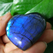 Natural labradorite stone crystal palm stones plaything healing crystals and home decoration natural fluorspar and labradorite figurine stone necroma sculpture decorated statue wizard stones and crystals hand carved