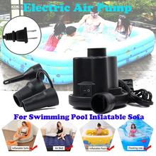 220V Outdoor Swimming Pool Electric Air Pump Inflatable Sofa Fast Inflator Intex Pool Accessories Swimming Pool Pump A inflator pump pool for inflatable air hand pump swimming portable pool air
