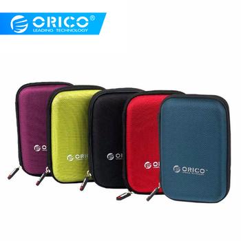 ORICO 2 5 cala torba ochronna HDD i SSD nylonowa torba na zamek błyskawiczny Mini Power Bank Caseelectronic Organizer futerał tanie i dobre opinie 2 5 HDD Protection Bag Black Red Green Purple Blue Neoprene Interlayer design
