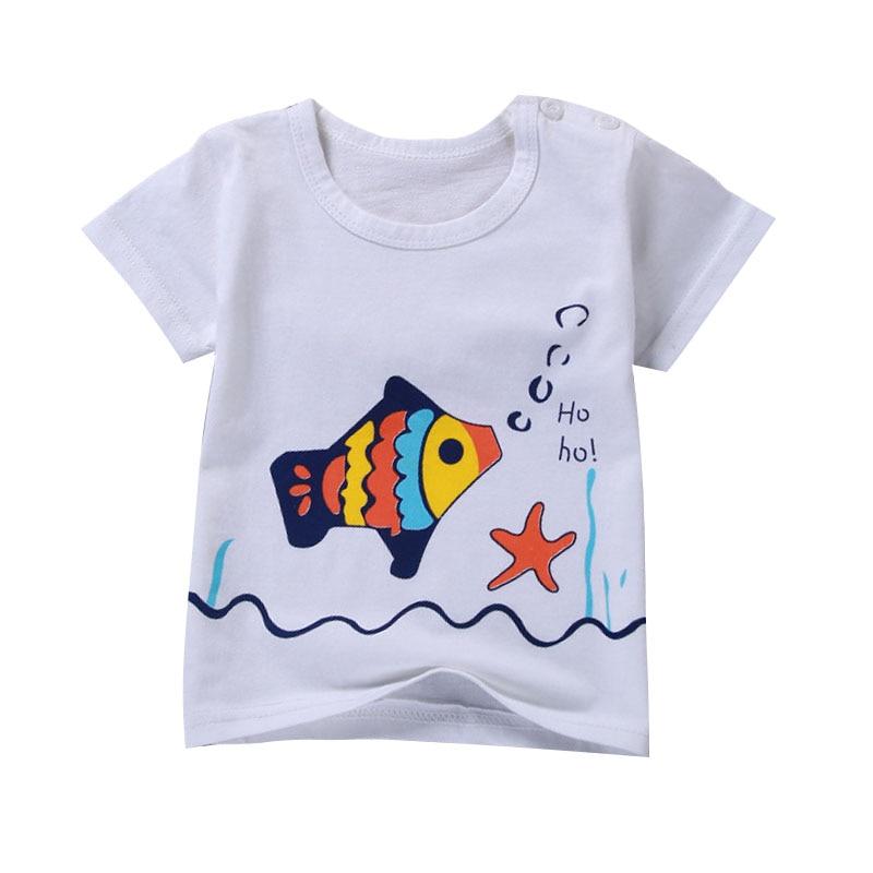 Unini yun 2017 new children clothing kids t shirts baby clothes boys spring autumn fashion