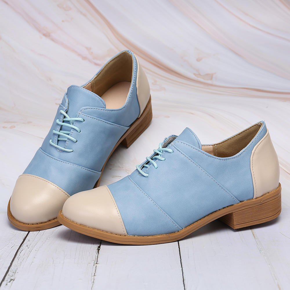 Customized Women Oxford Spring Shoes PU