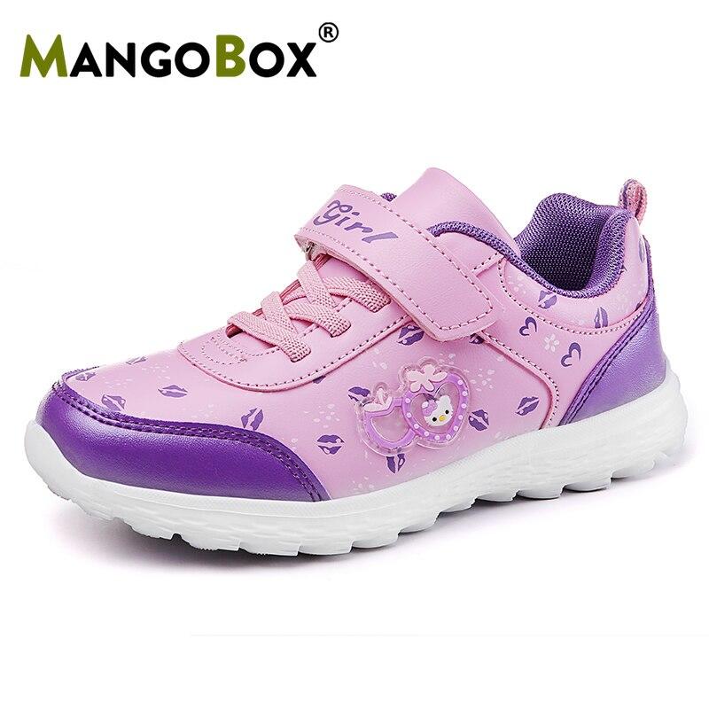Childrens Girls Sports Shoes Light Autumn Sneakers Girls Pink Mesh Little Girl Running Shoes Comfortable Girls Walking Shoes