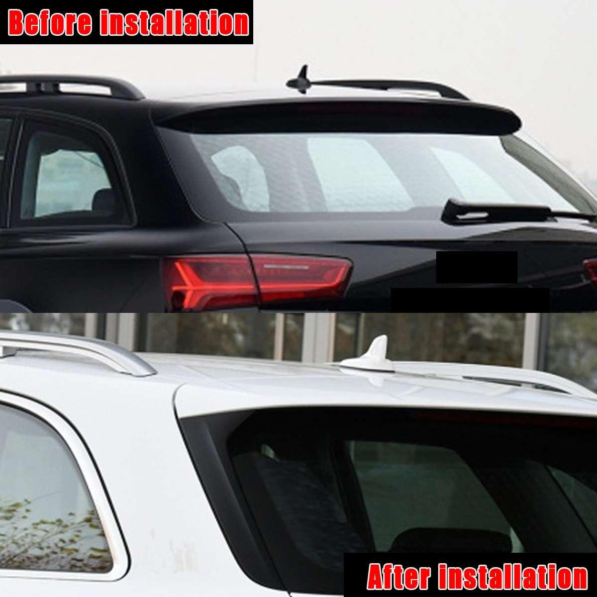Задний оконный Спойлер боковой полосы крышка отделка переоборудование экстерьера комплект подходит для Audi A6 C7 Allroad TDI Quattro/для Avant 2012-2018