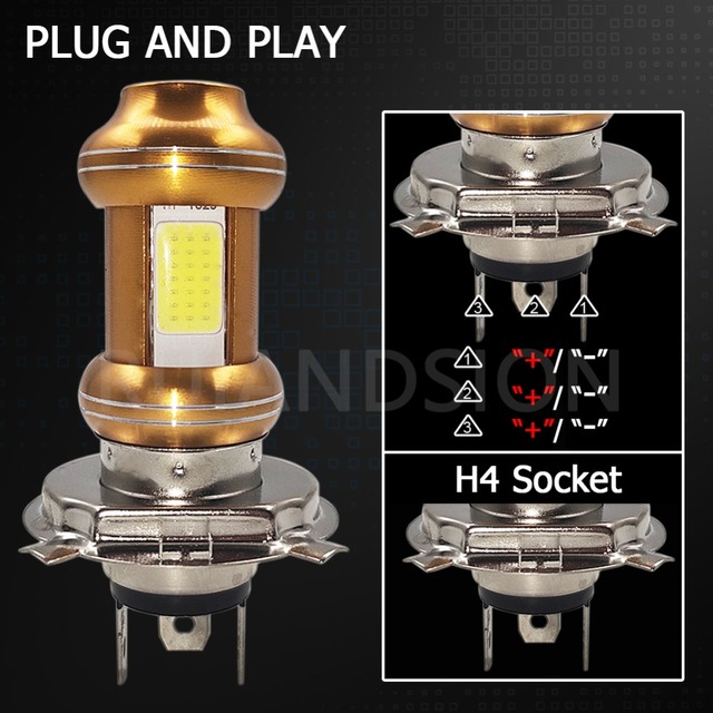 2 шт Автомобильные светодиодные лампы cob h4 12 85 в 1600 лм