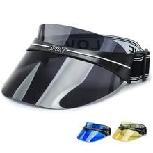 Hat Transparent-Cap Sunglasses Top-Visor Empty Summer Wide Sunscreen-Hat Brim Out-Door