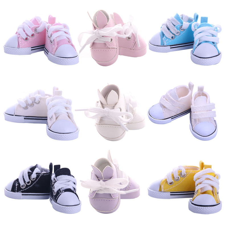 1/6 Bjd Doll Shoes For BJD 5 Cm Doll Canvas Shoes Cute Rabbit Shoes Mini Shoes Handmade DIY For Our Generation Girl`s Toy